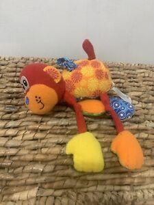 "Infantino Baby Rattle Teether Monkey Mobile 5"" Plush Soft Toy Stuffed Animal"