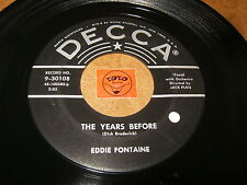 EDDIE FONTAINE - THE YEARS BEFORE - A ROSE AND A BABY RUTH  - LISTEN / ROCK JAZZ
