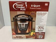 Power Pressure Cooker  8 Quart, Digital Non Stick Stainless Color COPPER