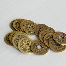 "10pcs Feng Shui Coins 1.00"" 2.3cm Lucky Chinese Fortune Coin I Ching Set CNCA"