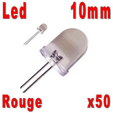 50x LED 10mm Rouges 30000mcd