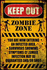 Zombie - Keep Out Poster Print, 24x36