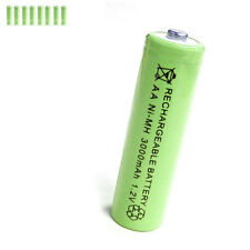 8 pcs AA 2A 3000mAh 1.2V Ni-MH rechargeable battery Solar Light MP3 Toy Green
