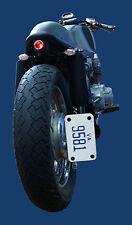 Cafe Racer Bike Custom Black Side mount Vertical License Plate Relocator Bracket