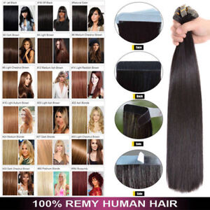 8A Seamless Human Hair Balayage Tape In Hair Extensions Ombre Straight Natural