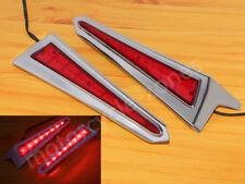 Chrome Saber Tooth Rear LED Saddlebag Brake Lights Accents For Victory 2010-17