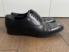 GUCCI Leather Mens Lace up Black Oxford Shoes, SZ 8,5