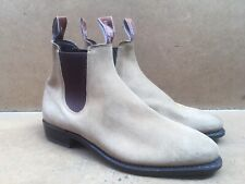 Rm Williams Womens Beige Suede Slip On Boots Size AUS 7 D    UK 4.5