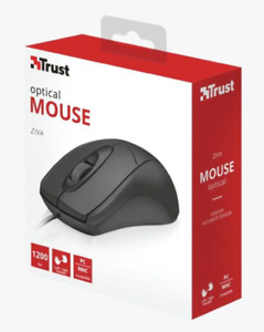 PRL) OPTICAL MOUSE ZIVA TRUST 1200 DPI LEFT-RIGHT HANDED PC/MAC COMPATIBLE