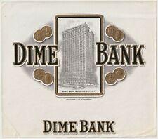 Dime Bank - Cigar Box Label