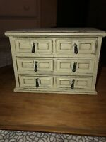 VINTAGE MELE Jewel Jewelry Case Wooden 3 Drawer with Music Box (UP)