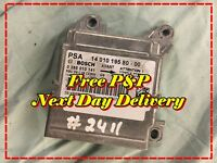 #2411 2007 1.6 Citroen Dispatch 2007-2014 Air Bag ECU Control Module 1401019580