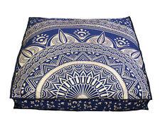 35'' Square Cushion Cover Pouf Cover Indian Mandala Floor Large Cushion Ottoman