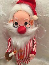 "Dream Dolls R Dakin Santa Claus Pajamas Christmas Decor Figurine 10 3/4"" Vintage"