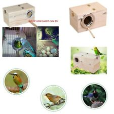 Premium Wooden Bird Nesting Box Cockatiel Kakariki Nest Box Nesting Breeding Box