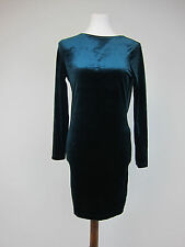 ASOS Velvet Wrap Back Long Sleeve Mini Dress - US 4 - Green - NWT