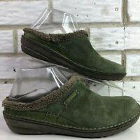 Teva Green Suded Fleece Lined Warm Clogs Wedge Heel Casual Womens 8M