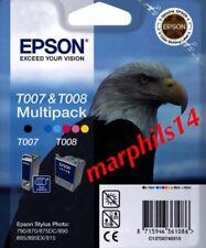 T007 & T008 Epson Black, Tri-Colour Ink Cartridges High Capacity Genuine