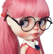 [PF] Suitable For 12''neo Blythe Doll Black Round Doll Glasses Beauty