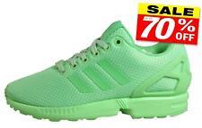 Adidas Originals ZX Flux Mujer Clásico Informal Gimnasio Fitness Entrenadores Verde