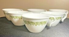 Set of 4 Corelle Cups Hook Handles + 2 Creamers Crazy Daisy Spring Blossom