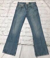 River Island Men's Blue Bootcut Jeans Size 30 Button Fly