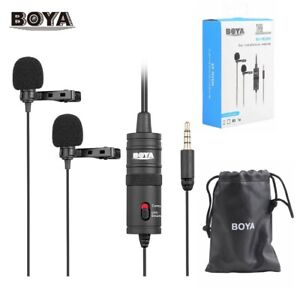 BOYA BY-M1DM Dual-Head Lavalier Clip-on Microphone for DSLR Camera Smartphone PC