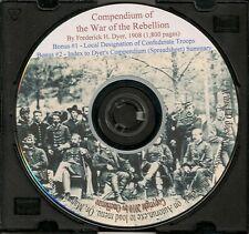 Compendium of the War of the Rebellion + Local Designation of Confederate Troops