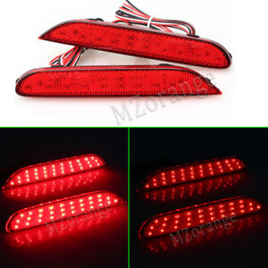 2x LED Rear Bumper Reflector Light Tail Lamps For Nissan X-trail Rogue Inifinit