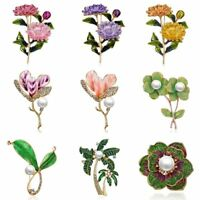 Fashion Lady Jewelry Rhinestone Crystal Flower Wedding Bridal Bouquet Brooch Pin
