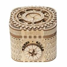 Robotime Laser-Cut Wooden 3D Puzzle Treasure Box Kits Toy Gift for Girl Kids Boy