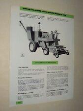 Brochure John Deere Moissonneuse Empastilladora 425 tractor Traktor Prospekt