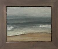 """Haze"" original oil painting signed framed Seascape Long Beach Island New Jersey"