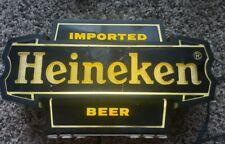 Vintage Heineken Imported Beer Light Bar Sign - Man Cave - *Read* - *As Is*
