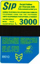 *G P 43 C&C 1050 SCHEDA TELEFONICA USATA TERZO GRUPPO SIDA 3000 8610