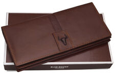 New Leather Mens Long Wallet 11 Credit Card Holders Zippered Coin Pocket Purse