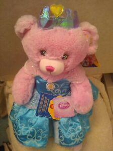 """Build A Bear Workshop Disney Princess Pink Glitter Teddy NWT 18"""" 2017 Cinderella"""