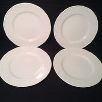 Set of 4 Mikasa Hampton Bays Bread and Butter Plates 6 3/4 Inch MINT White
