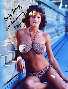 Sexy Bikini CANDY LOVING Autographed PLAYBOY PLAYMATE Photo HAND SIGNED