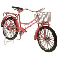 Pink Metal Bike with Basket. Cute Home Décor. Take a Ride