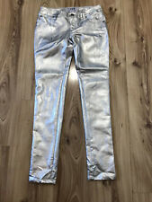 Tripp Nyc Skull Rivet Silver Super Skinny Faux Leather PU Trousers Jeans Sz US 3