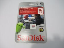 SanDisk 16GB Micro SDHC Class 10 Memory Card Full HD Video G1