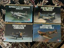 Escala 1/72 de Tamiya Trabajo Lote Fw190A P-47D Thunderbolt Spitfire Corsair x4 Eduard