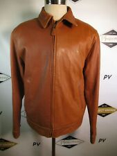 E7590 VTG POLO RALPH LAUREN Full-Zip Classic Leather Jacket Size L