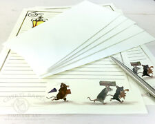 Mice Stationery Paper Set - Stationary Set Writing Paper Lined Paper Woodland