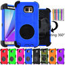 Hybrid Case For Samsung Galaxy Note 5 Kickstand & Holster Belt Clip Combo Cover
