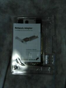 StarTech Network Adapter 10/100-Mbps Ethernet Network Card with disc and instruc