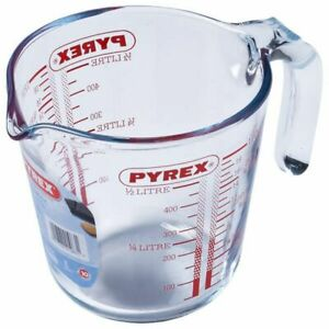 PYREX Glass Measuring Jug 1/2 litre (1 pint) Transparent,FREE DELIVERY