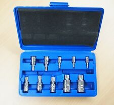 10 PC XZN Triple Square Spline Bit Socket Set 12 Points