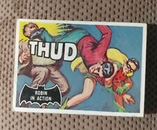 VINTAGE 1966 TOPPS BATMAN BLACK BAT DC Comics VTG Card #18 ROBIN IN ACTION